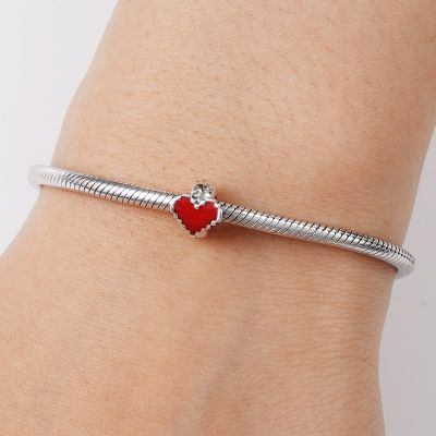 Charm Stopper Cuore Rosso